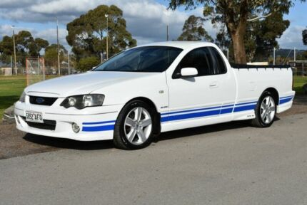 2003 Ford Falcon BA XR6 Turbo Ute Super Cab White 4 Speed Automatic Utility Brighton Holdfast Bay Preview