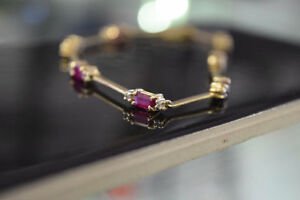14K Gold 2.45ct Diamond and Ruby Bracelet (Appraised)***