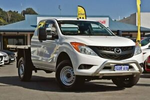 2013 Mazda BT-50 UP0YF1 XT Freestyle White 6 Speed Manual Cab Chassis Tweed Heads Tweed Heads Area Preview