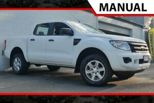 2013 Ford Ranger PX XL Double Cab White 6 Speed Manual Utility Ashmore Gold Coast City Preview
