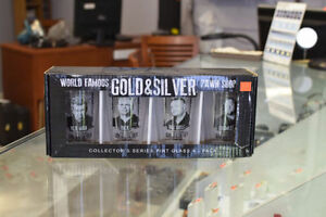 Gold and Silver Pawn Shop Pint Glasses from the Pawn Stars Shop+