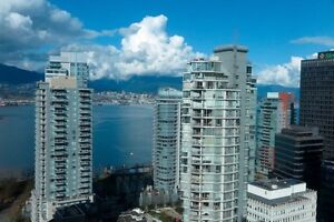 Hardwood, Floor to Ceiling Windows with a View, Coal Harbour