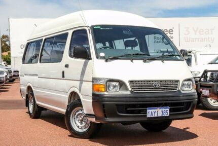 2001 Toyota Hiace LH184R Commuter Super LWB White 4 Speed Automatic Bus