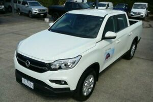2019 Ssangyong Musso XLV MY19 ELX Grand White 6 Speed Automatic Dual Cab Utility Hendra Brisbane North East Preview