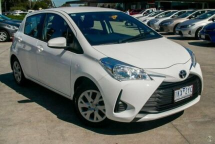 2017 Toyota Yaris White Automatic Hatchback
