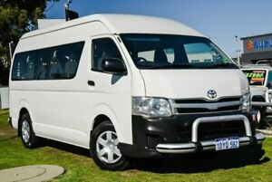 2012 Toyota HiAce KDH223R MY11 Commuter High Roof Super LWB White 4 Speed Automatic Bus Wangara Wanneroo Area Preview