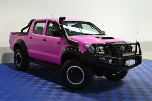 2011 Toyota Hilux KUN26R MY12 Workmate (4x4) Pink 5 Speed Manual Dual Cab Pick-up Jandakot Cockburn Area Preview