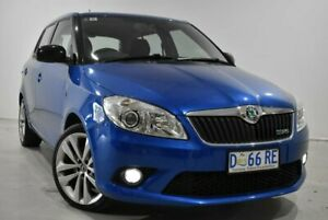 2012 Skoda Fabia 5JF MY13 RS DSG 132TSI Blue 7 Speed Sports Automatic Dual Clutch Hatchback Launceston Launceston Area Preview