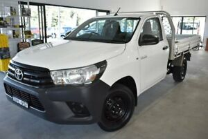 2017 Toyota Hilux TGN121R Workmate 4x2 White 5 Speed Manual Cab Chassis Port Macquarie Port Macquarie City Preview
