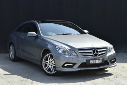 2009 Mercedes-Benz E250 CGI C207 Elegance Palladium Silver 5 Speed Sports Automatic Coupe