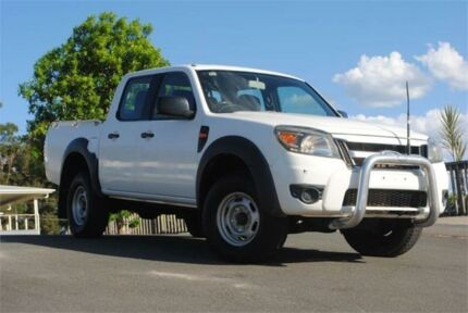 2011 Ford Ranger PK XL Crew Cab 4x2 Hi-Rider White 5 Speed Manual Utility Chevallum Maroochydore Area Preview