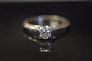 14K Gold 0.41ct Diamond Engagement Ring -Size 8-Appraised*