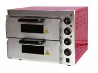 New Commercial Electric Pizza Oven with Stone Base
