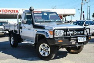 2014 Toyota Landcruiser VDJ79R MY12 Update GXL (4x4) Silver Pearl 5 Speed Manual Cab Chassis