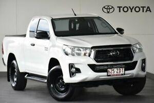 2019 Toyota Hilux GUN136R SR Extra Cab 4x2 Hi-Rider White 6 Speed Sports Automatic Utility