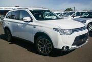 2014 Mitsubishi Outlander ZJ MY14.5 PHEV AWD White 1 Speed Automatic Wagon Hybrid Nunawading Whitehorse Area Preview