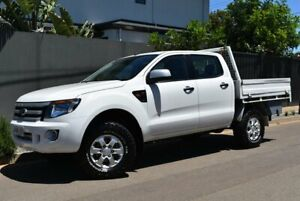 2013 Ford Ranger PX XLS Double Cab White 6 Speed Manual Utility Brighton Holdfast Bay Preview
