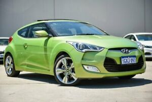 2012 Hyundai Veloster FS Coupe D-CT Green 6 Speed Sports Automatic Dual Clutch Hatchback Midvale Mundaring Area Preview