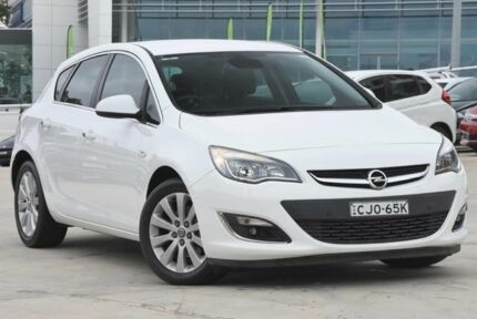 2012 Opel Astra AS Select White 6 Speed Sports Automatic Hatchback