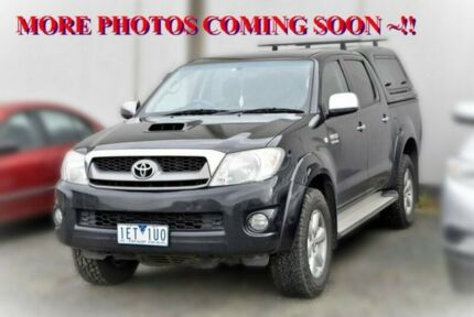 2010 Toyota Hilux KUN26R MY10 SR5 Black 4 Speed Automatic Utility