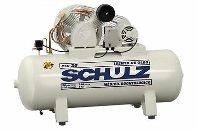 Schulz 3hp Air Compressor 15 Cfm Oil Free 60 Gallon Horizontal New
