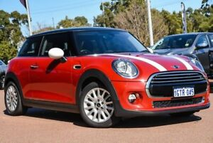 2014 Mini Hatch F56 Cooper Red 6 Speed Automatic Hatchback Wangara Wanneroo Area Preview