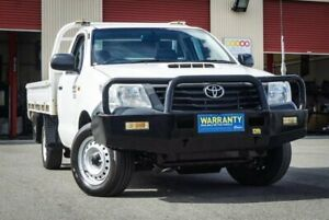 2012 Toyota Hilux KUN16R MY12 Workmate 4x2 White 5 Speed Manual Cab Chassis Coopers Plains Brisbane South West Preview