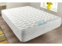 DOUBLE 4FT6: A quilted sprung memory foam mattress