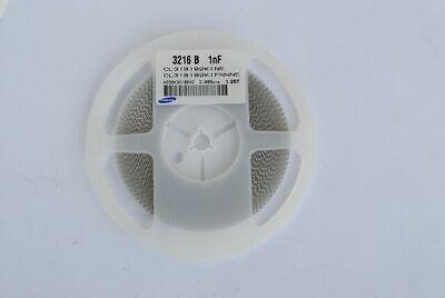 Samsung Ceramic Capacitor Cl31b102kifnnne 1206 1000pf 1000v X7r Rohs .001uf 50pc