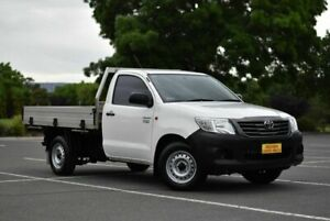 2015 Toyota Hilux TGN16R MY14 Workmate 4x2 White 5 Speed Manual Cab Chassis Enfield Port Adelaide Area Preview