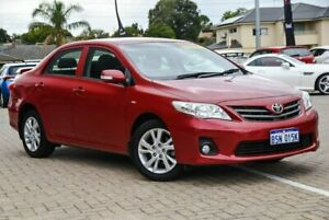 2011 Toyota Corolla ZRE152R MY11 Ascent Sport Red 4 Speed Automatic Sedan Morley Bayswater Area Preview