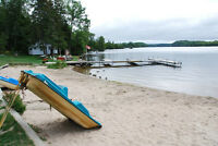 Resort 9 cottages 708' on Cecebe lake 6.7 acres Muskoka area