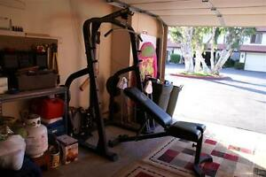 nautilus half rack with lat pull down and bench