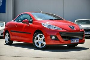 2012 Peugeot 207 A7 Series II MY12 CC Red 5 Speed Manual Cabriolet Midvale Mundaring Area Preview