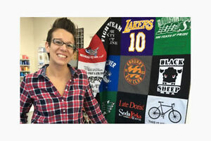 Turn your T-shirts into a Memory Quilt Comox / Courtenay / Cumberland Comox Valley Area image 1