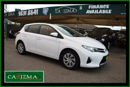 2012 Toyota Corolla ZRE182R Ascent White 7 Speed CVT Auto Sequential Hatchback Toongabbie Parramatta Area Preview
