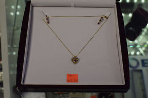 *.10k Gold Ruby/Diamond Necklace/Earring Set(Appraised)**
