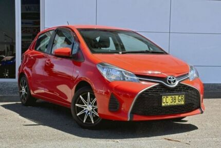 2014 Toyota Yaris NCP130R Ascent Red 5 Speed Manual Hatchback Tweed Heads South Tweed Heads Area Preview