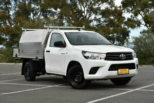 2018 Toyota Hilux TGN121R Workmate 4x2 White 5 Speed Manual Cab Chassis Enfield Port Adelaide Area Preview