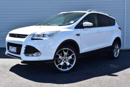 2016 Ford Kuga TF MY16.5 Titanium AWD White 6 Speed Sports Automatic Wagon