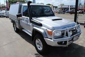 2014 Toyota Landcruiser VDJ79R MY13 GXL Silver 5 Speed Manual Cab Chassis Rosslea Townsville City Preview