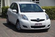 2010 Toyota Yaris NCP90R MY11 YR White 4 Speed Automatic Hatchback Ashmore Gold Coast City Preview