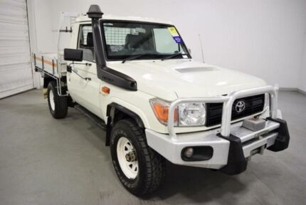 2010 Toyota Landcruiser VDJ79R 09 Upgrade Workmate (4x4) White 5 Speed Manual Cab Chassis Moorabbin Kingston Area Preview
