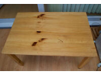 IKEA mature pine, solid coffee table, bargain