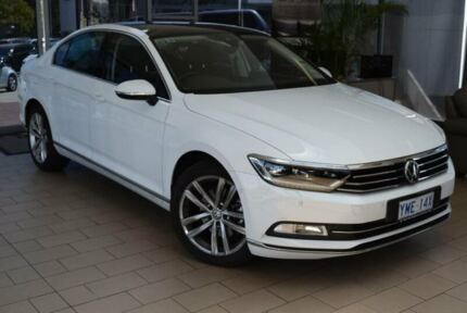 2016 Volkswagen Passat 3C MY17 140 TDI Highline Pure White 6 Speed Direct Shift Sedan