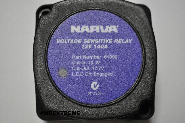 Narva 12v 140amp Dual Battery System Voltage Sensitive