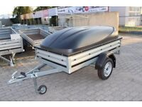 Brand new Brenderup 1205 s car box trailer with ABS lid