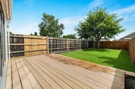 ARCHITECTURALLY DESIGNED BRAND NEW 3 DOUBLE BEDROOM HOUSE, DECKED & LAWNED GARDEN