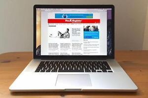 """Apple Macbook Pro 15"""" - Core i7 Quad 2.8 GHz - 8 GB RAM - 500 GB HDD - 1680x1050 - HD Graphics 3000 512 MB"""