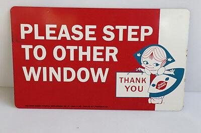 1962 Dairy Queen Ice Cream Window Display Sign